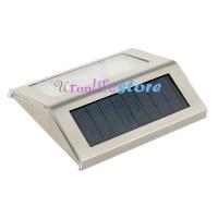 2pcs Solar Powered Fence Lights Wall Door Step LED Light ...