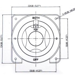 dual marine battery switch selector for rv boat replaces guest perko 4 position [ 1300 x 1300 Pixel ]