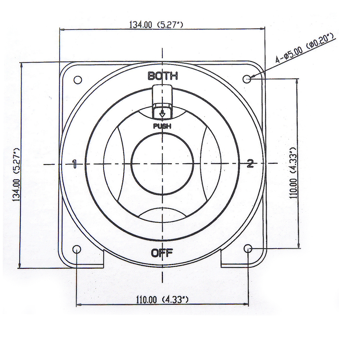 hight resolution of dual marine battery switch selector for rv boat replaces guest perko 4 position