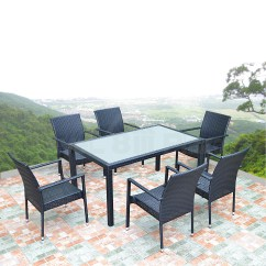 Outdoor Dining Chairs Stackable Small Chair Or Stool Wicker Set Glass Table Andstackable