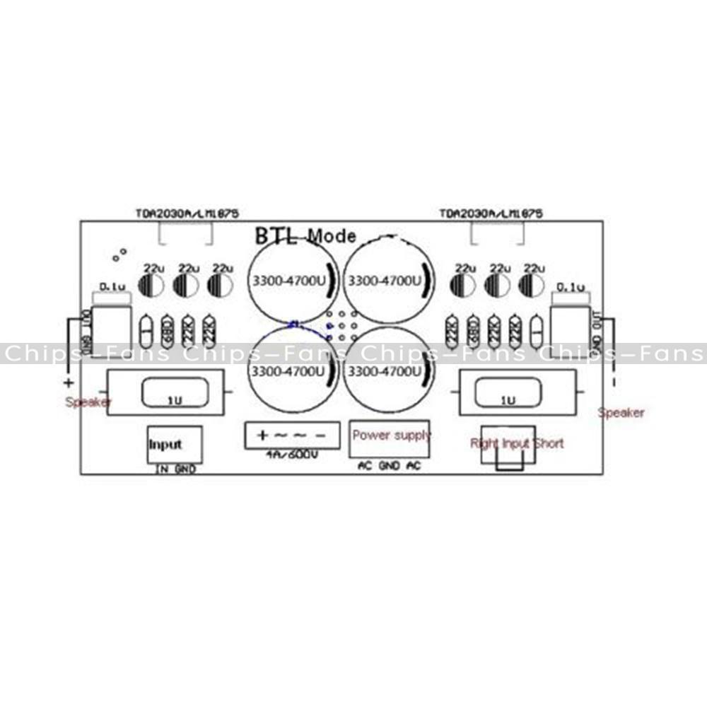1Pcs Lm1875t Lm675 Tda2030 Tda2030a Audio PCB Board