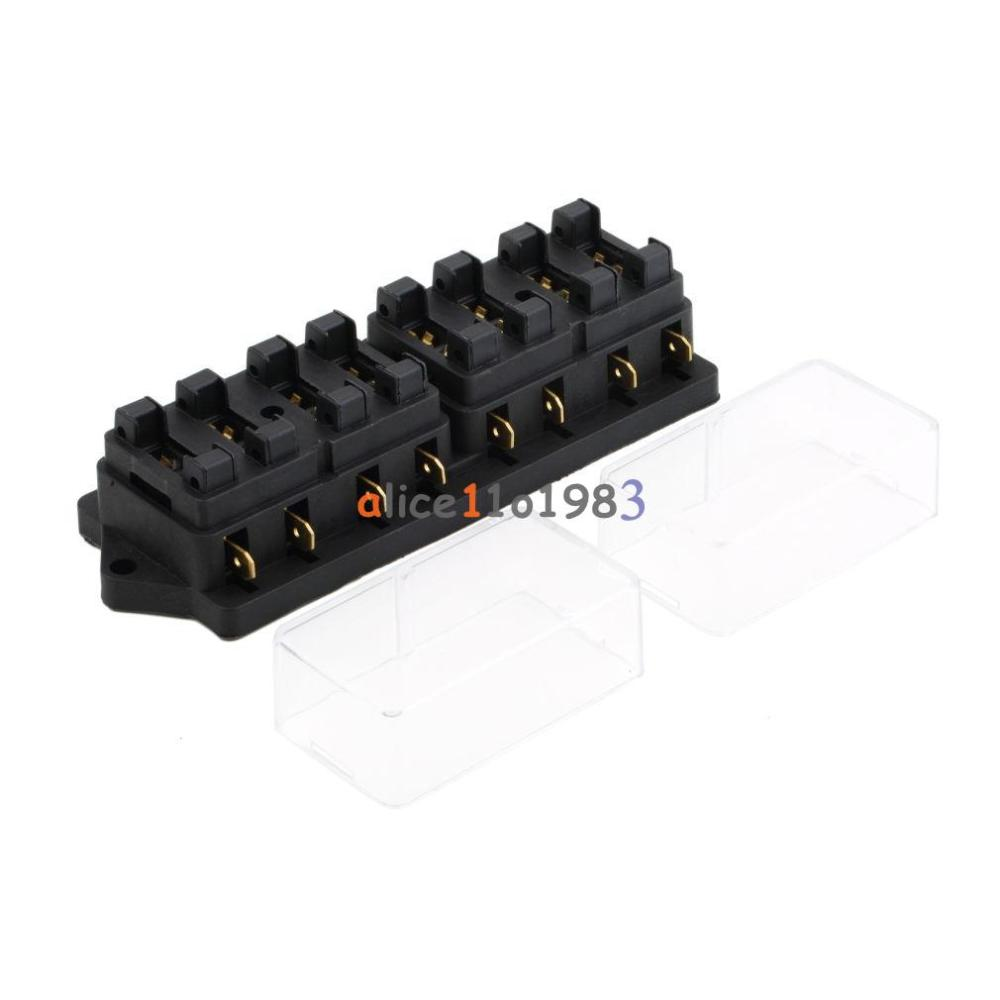 medium resolution of details about 8 way circuit car boat auto automotive blade fuse box block holder atc ato