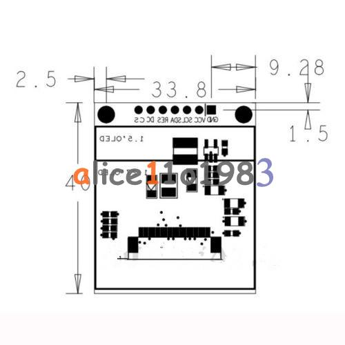 1.5'' inch SPI OLED Display 65536 Color LCD Module SSD1331
