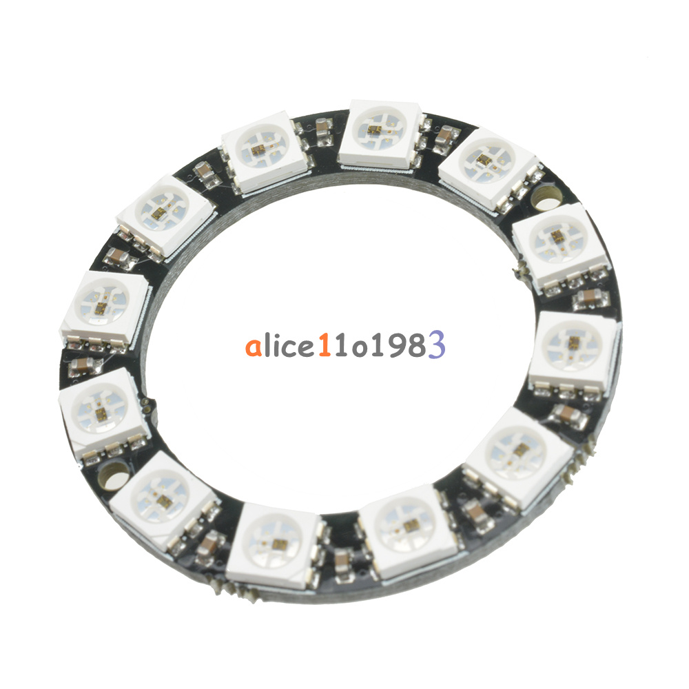 RGB LED Ring 12 Bit WS2812 5050 RGB LED + Integrated