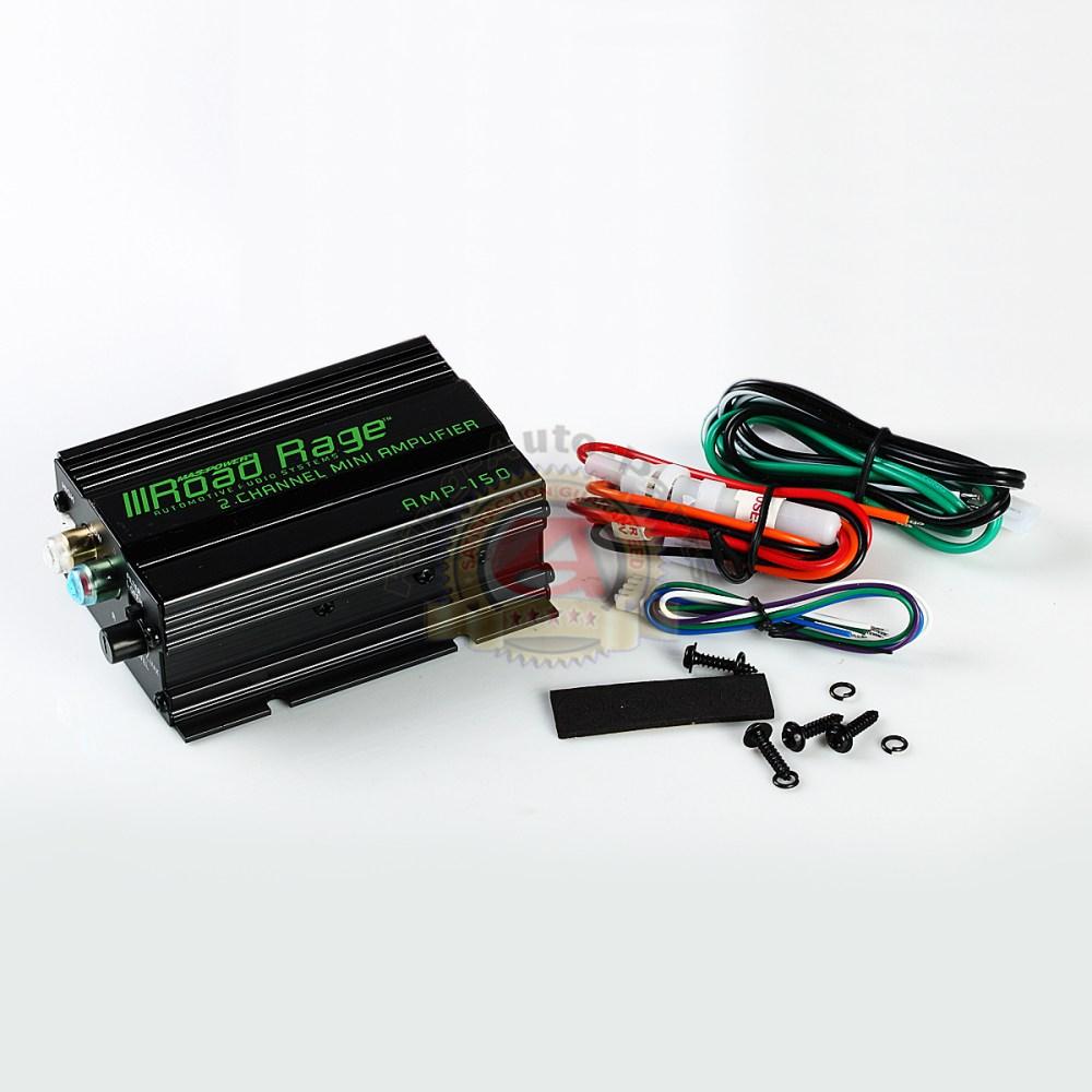 medium resolution of road rage 150 watt 2 channel mini high power amplifier car amp free shipping