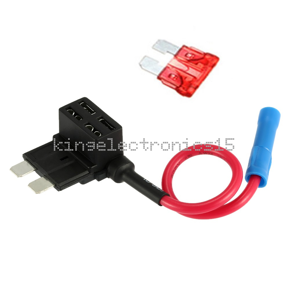hight resolution of details about 12v car add a circuit fuse tap adapter standard atm apm auto blade fuse holder k