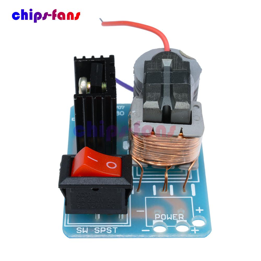 hight resolution of 15kv high voltage inverter generator spark arc ignition coil module diy kit 3 7v