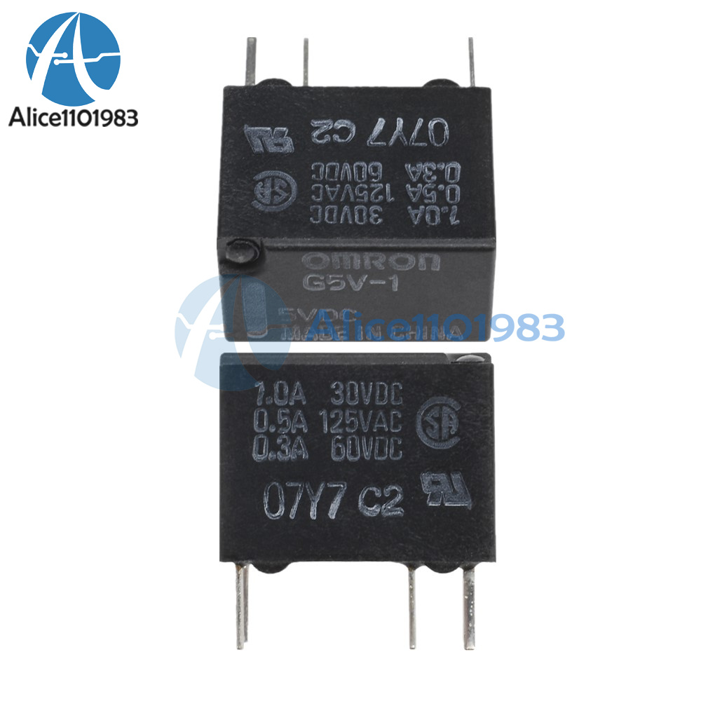 medium resolution of details about new 5v g5v 1 5vdc signal relay 6 pins for omron relay 6pin hot