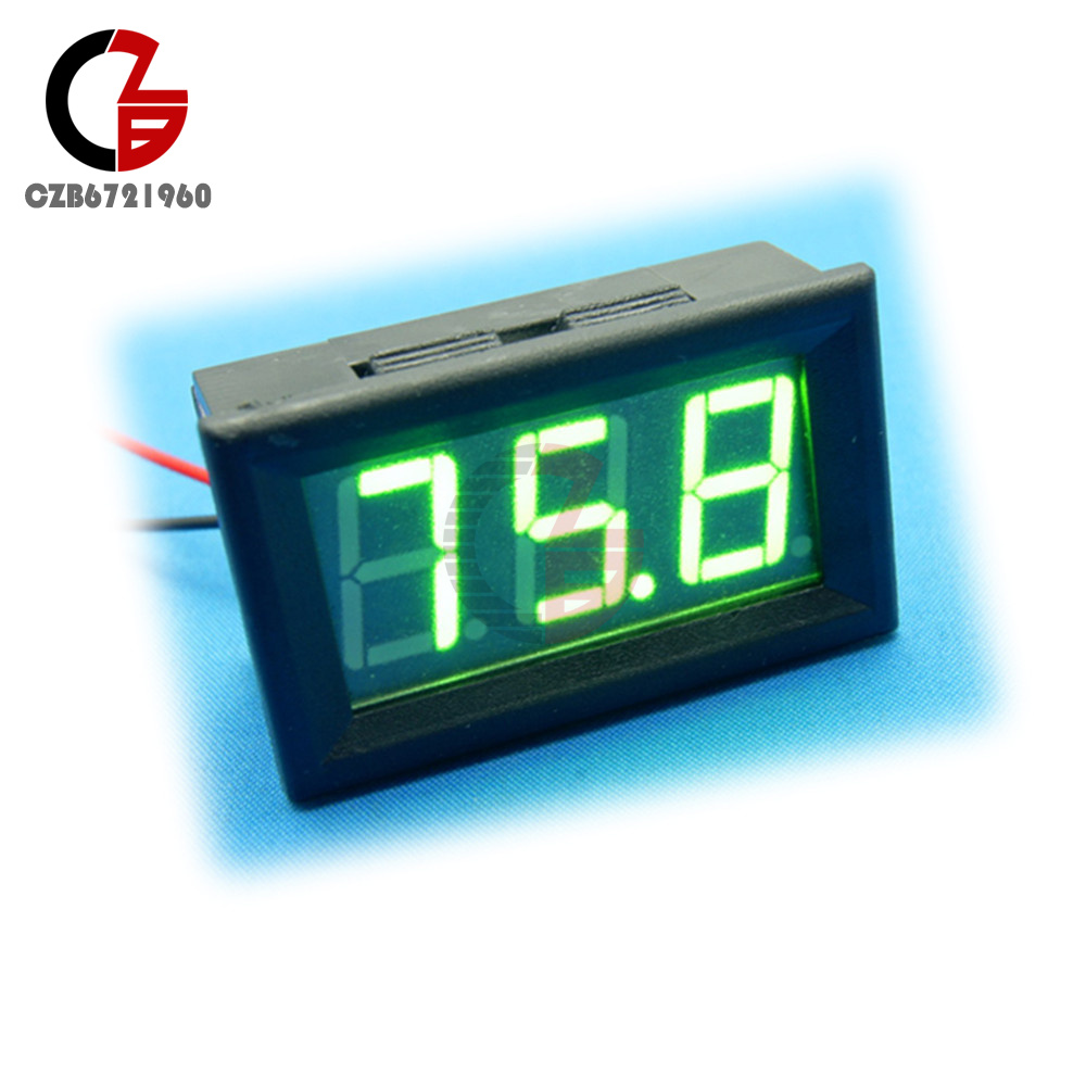 hight resolution of details about green led display panel meter mini digital voltmeter dc 0v to 99 9v three wires