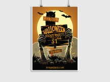 Halloween Night Party – Poster Template 0707