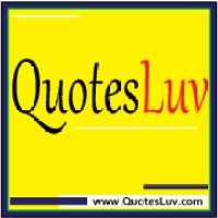 QuotesLuv Website Logo Design 2B. Yellow Background Medium Image Size:200x200px
