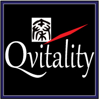 Qvitality: Natural Health for Men at Midlife. Branding Logo Design 2A. Image size:200x200px