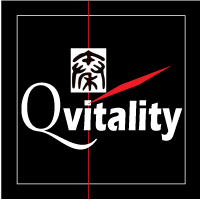 Qvitality: Natural Health for Men at Midlife. Branding Logo Design 3A. Image size:200x200px
