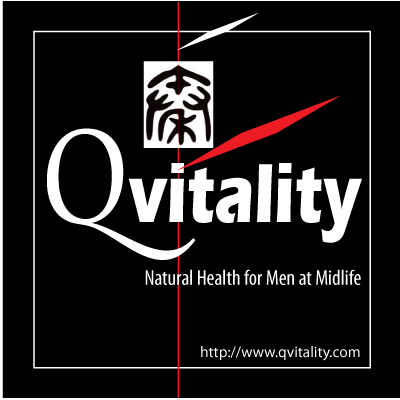 Qvitality: Natural Health for Men at Midlife. Branding Logo Design 4A. Image size:400x400px