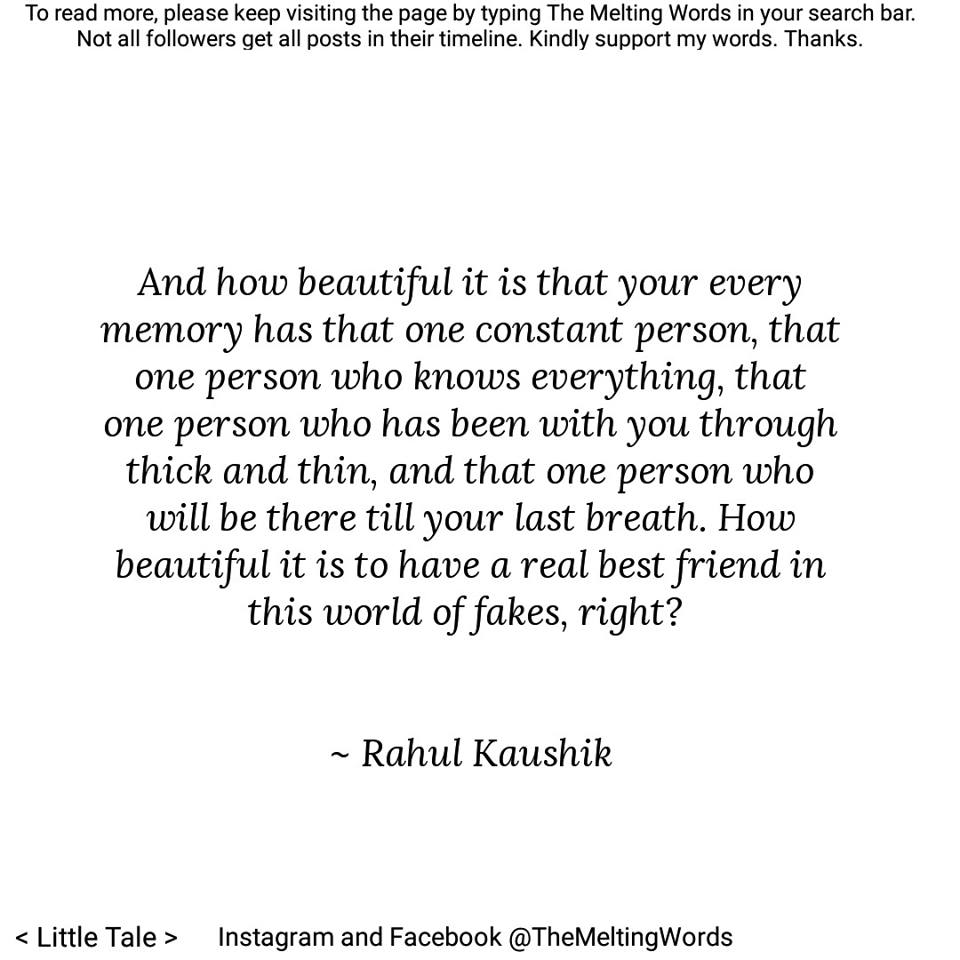 best quotes rahul kaushik interview melting words facebook instagram