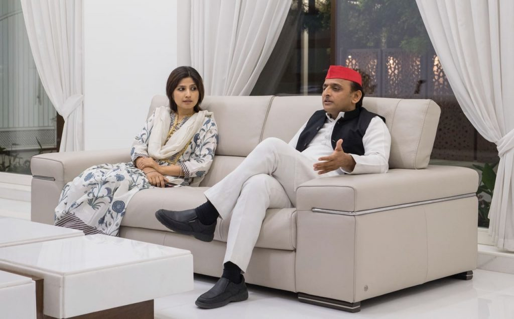 Akhilesh-Yadav-and-Dimple-Yadav-The-Wire
