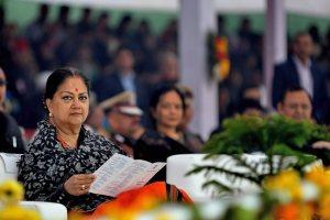 راجستھان کی وزیراعلیٰ وسندھرا راجے سندھیا۔ (فوٹو : پی ٹی آئی)
