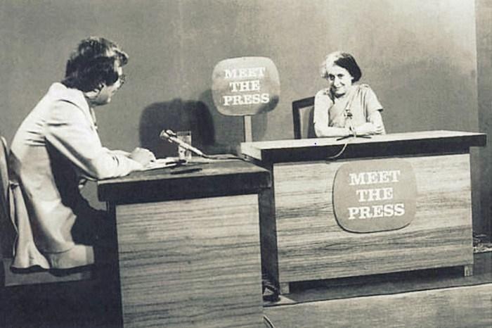 20 اگست 1975 کو این بی سی کے ' میٹ دی پریس پروگرام میں اندرا گاندھی (فوٹو : پی آئی بی)