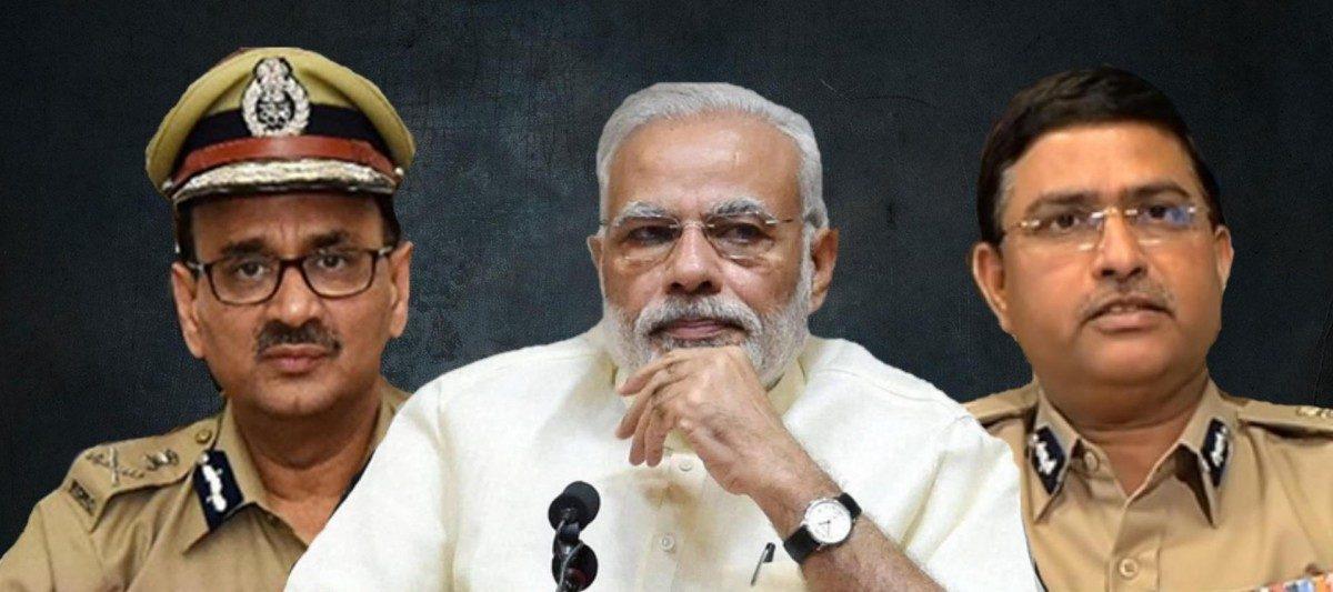 سی بی آئی ڈائریکٹر آلوک ورما، وزیر اعظم نریندر مودی، سی بی آئی اسپیشل ڈائریکٹر راکیش استھانا (فوٹو : پی ٹی آئی)
