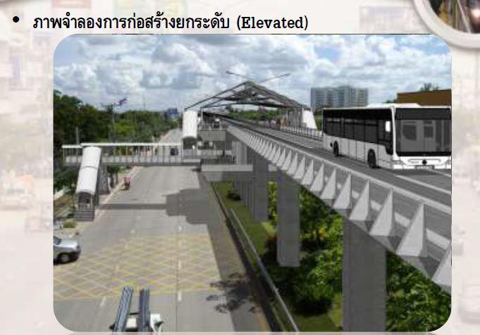 ภาพจำลองสถานี KRT แบบยกระดับ