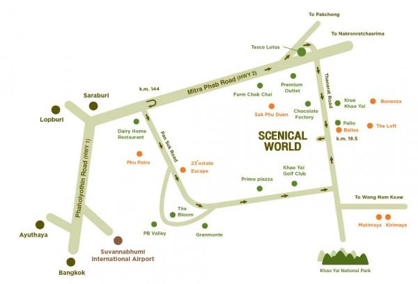 แผนที่ Scenical World