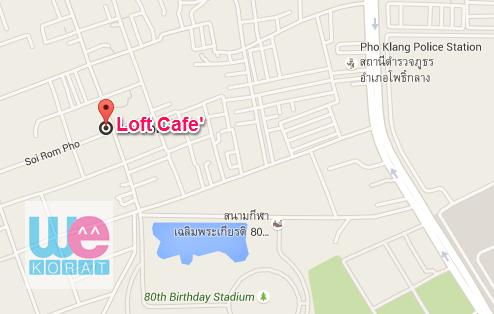 แผนที่ร้าน Loft Cafe'