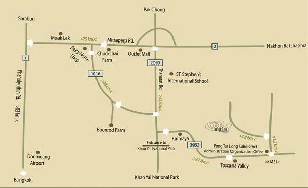 แผนที่ ศาลา เขาใหญ่ (sala khaoyai resort)