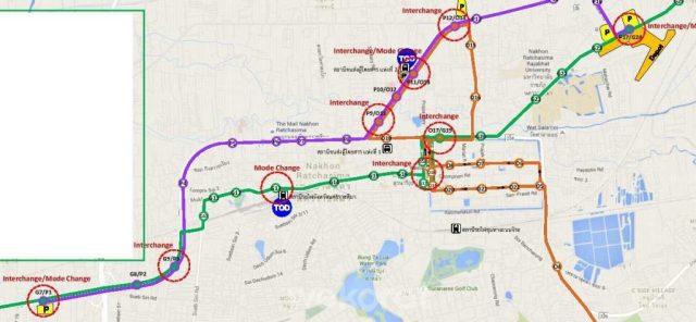 ภาพรวมข้อเสนอเส้นทางรถราง LRT (กดดูที่ภาพเพื่อไปยังภาพเต็ม)