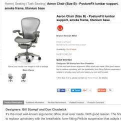 Aeron Chair Sale White Leather Task Herman Miller Mercado Mx