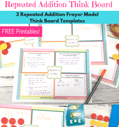 free repeated addition think board template [ 794 x 1123 Pixel ]