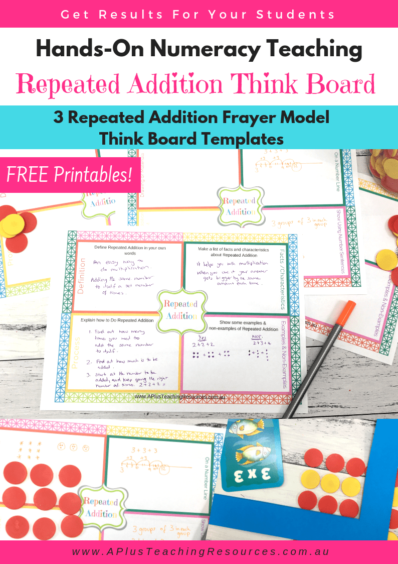 medium resolution of free repeated addition think board template