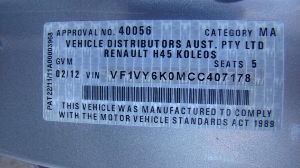 medium resolution of renault koleos fuse box under dash 2 0ltr