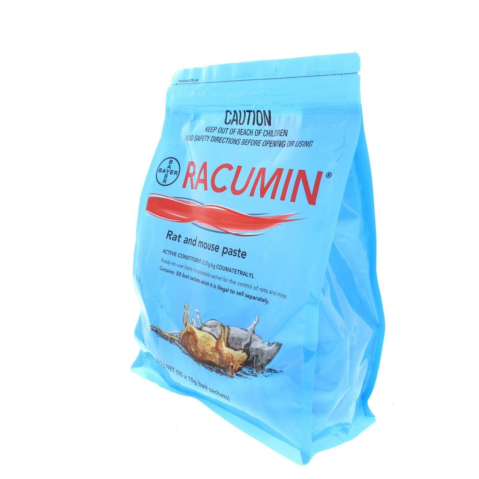 Racumin Rat and Mouse Paste Bait 50 Sachets Coumatetralyl