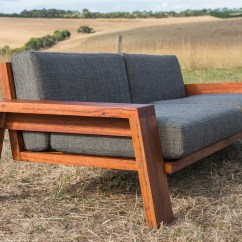 Sofa Wood Frame Exposed Uk Futon Bed King Size Queenscliff Timber Couch By Bombora Custom
