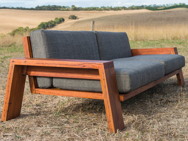 sofa frame crushed velvet for sale queenscliff exposed timber couch by bombora custom furniture outdoor