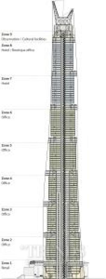 Twisting facade of China's tallest building reduces sway