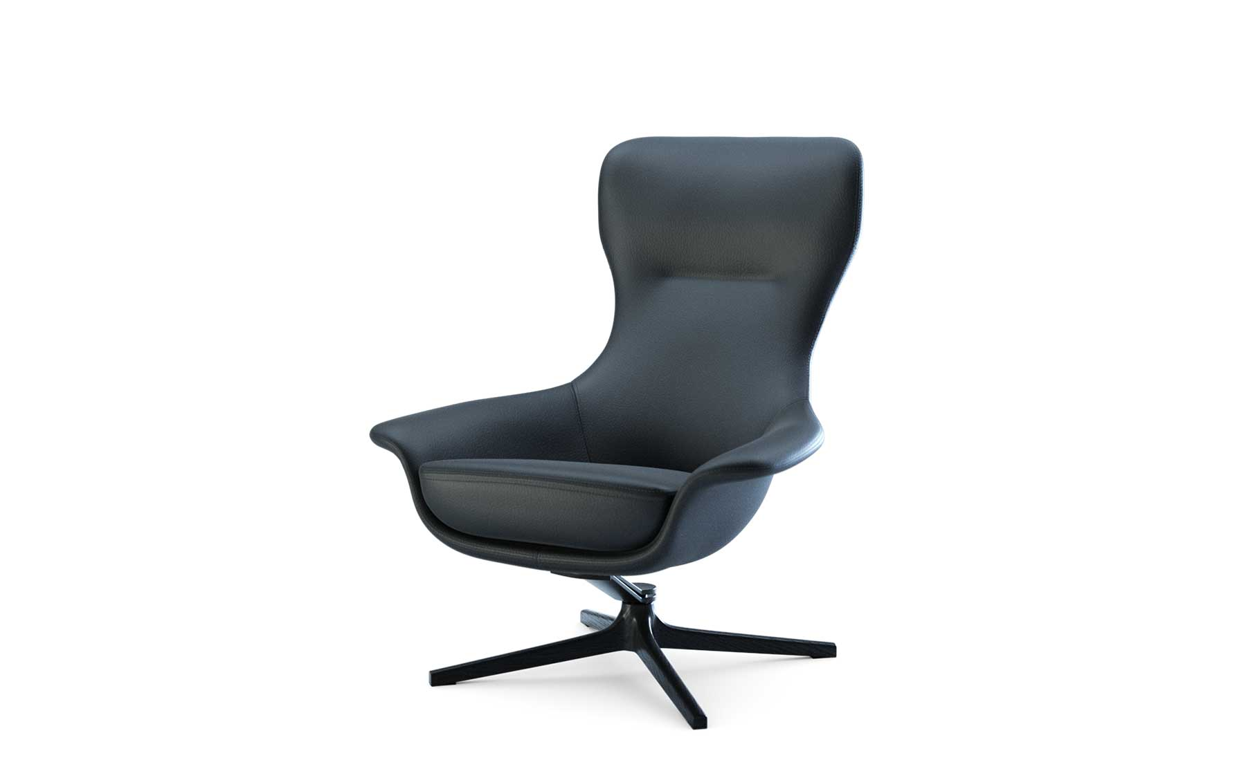 swivel chair king living padded folding chairs with arms seymour designed in collaboration charles wilson armchair ottoman