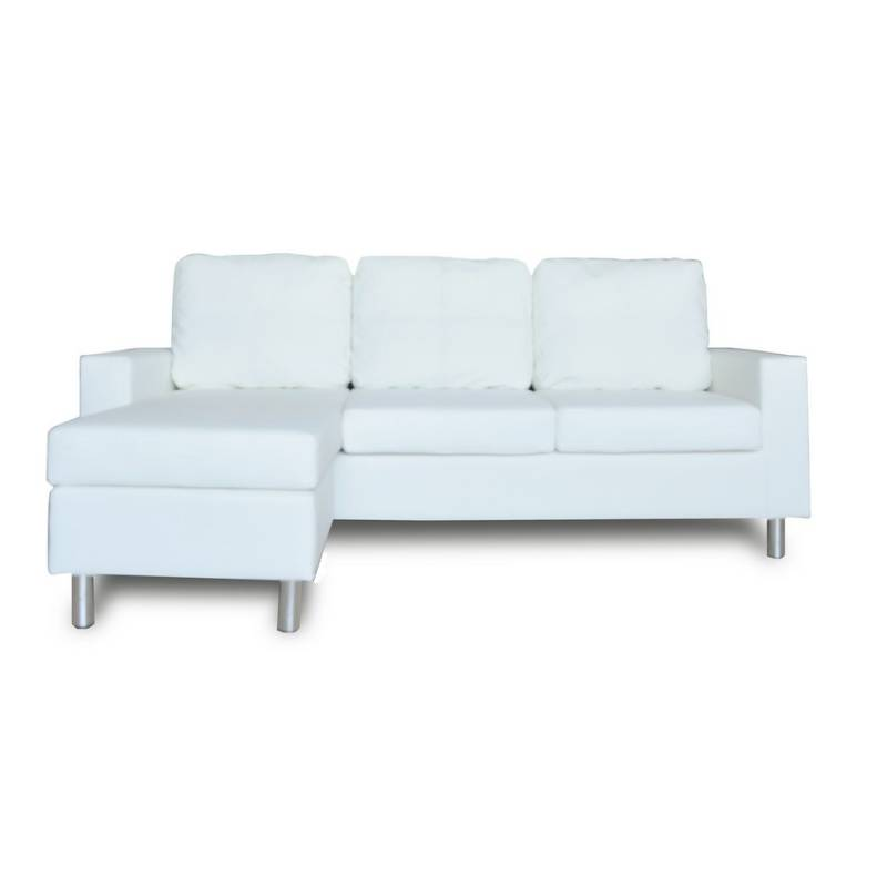 sofa w chaise prestige aaron loveseat chair and ottoman collection pu leather 3 seat westminster or white buy h m s remaining
