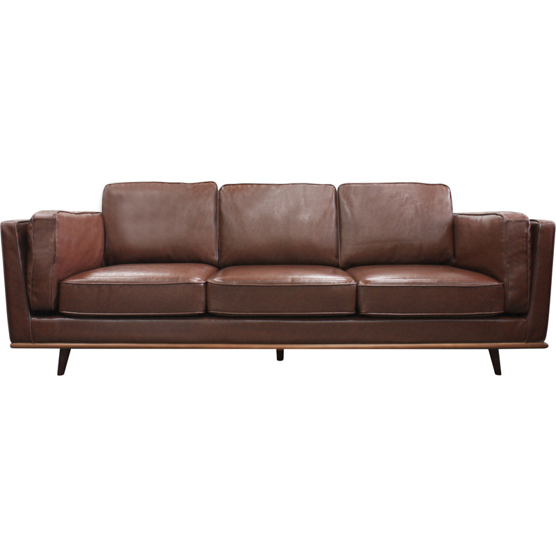 brown leather sofa on legs couches and sofas at game york 3 seat pu w wooden in buy h m s remaining