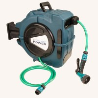 Outdoor Auto Rewind Garden Hose & Reel in Green 20m | Buy ...