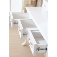 Bedroom Chair M&s Cowhide Print Accent Queen Anne French Dressing Table W Mirror In White Buy