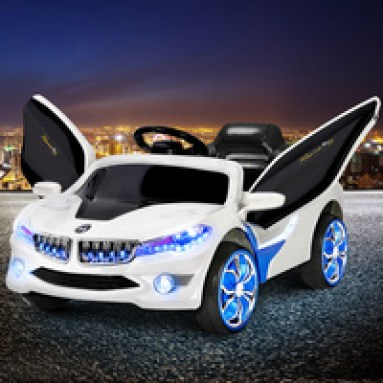 Rigo Kids Ride On Car - Blue & White