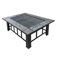 Steel Ceramic Outdoor Fire Pit Table Grill 94x74cm | Buy ...