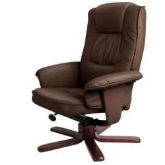 Chocolate Brown Living Room Chairs Nice Colors Swivel Pu Leather Recliner Armchair W Ottoman | Buy ...