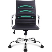 Chic Eames Replica PU Leather Office Chair in Black | Buy ...