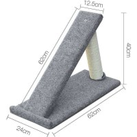 Carpet Fabric Cat Scratching Post Ramp in Grey 40cm