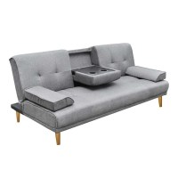 Artiss 3 Seater Linen Fabric Sofa Bed - Grey | Buy Sofas ...