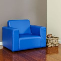 Sofa Couch Brisbane Best Singapore 2018 Kids Pvc Leather Single Seat In Blue | Buy ...