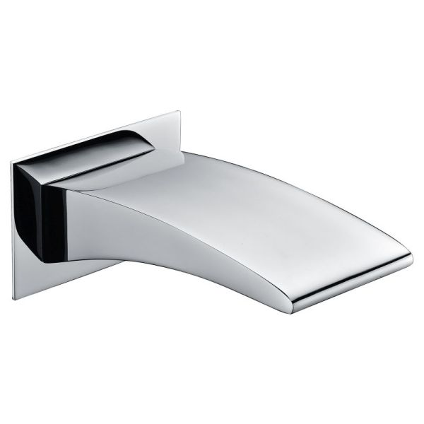 Wall Mounted Wide Waterfall Bath Spout Chrome 183mm