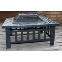 Square Metal Outdoor Fire Pit & Grill w/ Lid 18in | Buy ...